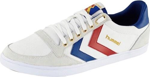 Große Größen: Hummel Sneaker »Slimmer Stadil Canvas Low«, weiß-blau-rot, Gr.36-45