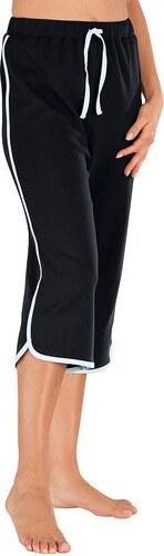 Große Größen: Capri-Freizeithose in Interlock-Qualität, schwarz, Gr.38-56