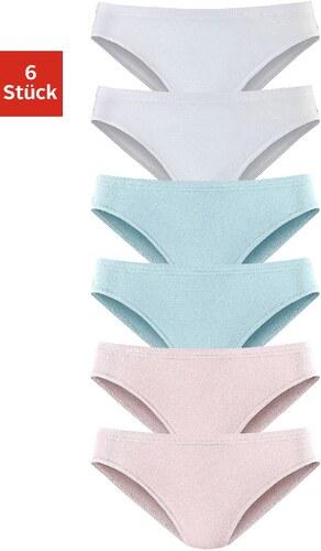 Große Größen: Vivance Active Slip »Cotton made in Africa« (6 Stück), 2x: rosa + hellblau + weiß, Gr.32-44