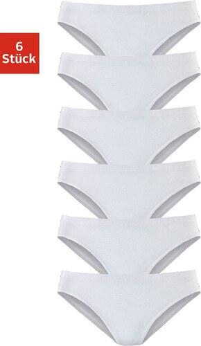 Große Größen: Vivance Active Slip »Cotton made in Africa« (6 Stück), 6 x weiß, Gr.32-46