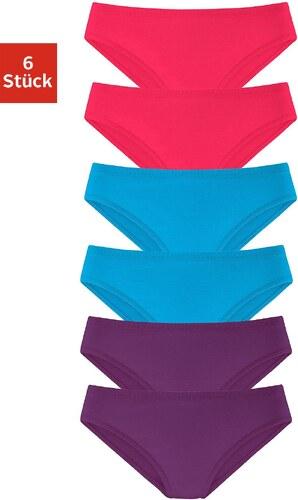 Große Größen: Vivance Active Slip »Cotton made in Africa« (6 Stück), lila + türkis + pink, Gr.32-46