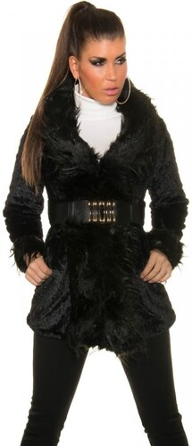 Dámský zimní kabát Koucla DK1850C černý - Glami.cz 0013a2787c6