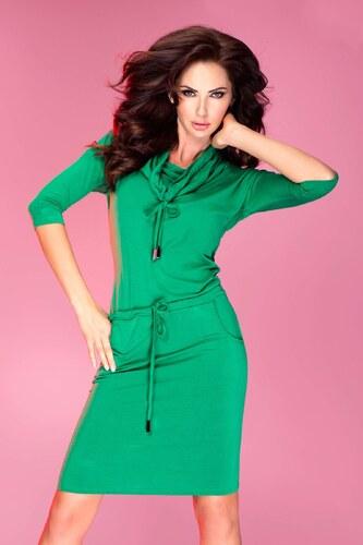 numoco Dámské sportovní šaty GOLF s tkanicemi a kapsami středně dlouhé  zelené 7937792e5f