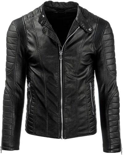 Luxusná čierna pánska kožená bunda - Glami.sk 26661da1eda
