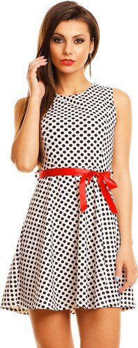 Letní puntíkované šaty - bíločerné - Glami.cz ef4cc9c7a3