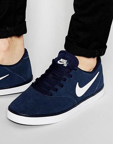 Nike Primo Court Baskets en cuir Bleu 644826-440 Bleu