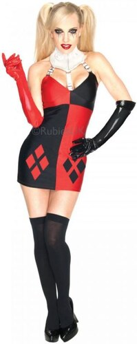 Kostým Super Villian Harley Quinn Batman Velikost L