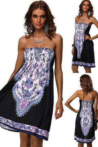 LM moda A Letní šaty k moři černo bílé s krásným vzorem 966 - Glami.cz 28b18f06364