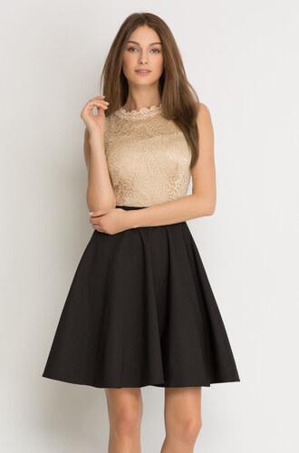 Orsay Kleid in Glockenschnitt mit Spitze - Glami.de
