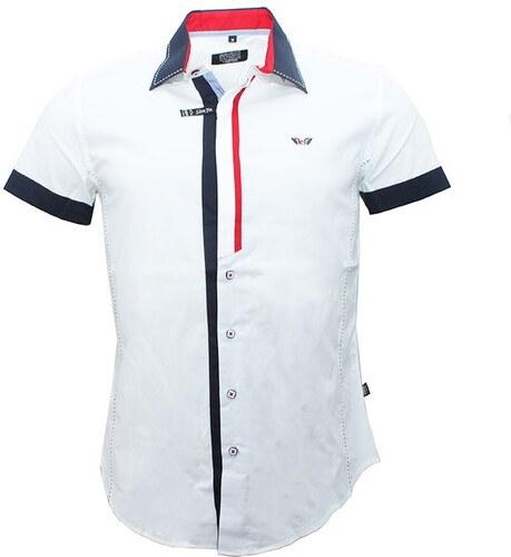 CARISMA košile pánská 9007 krátký rukáv slim fit - Glami.cz f4a12e5599