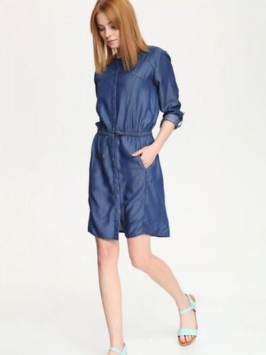 Top Secret šaty dámské dlouhý rukáv jeans - Glami.cz fab0ff9f2b