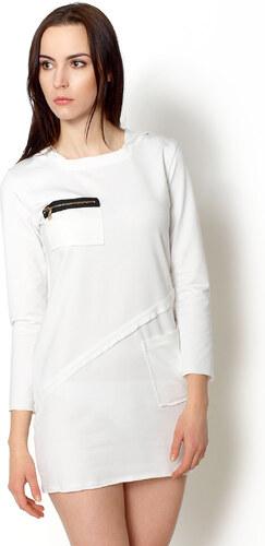 Športové šaty s kapucňou (6 modelov) odtiene farieb  biela - Glami.sk d585e200789