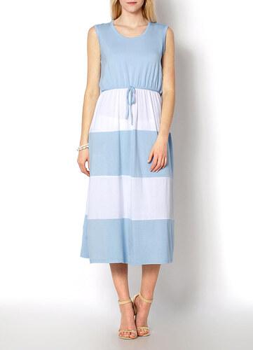 a98bb5a18cf3 Dámske modré pruhované šaty - J144 odtiene farieb  modrá - Glami.sk