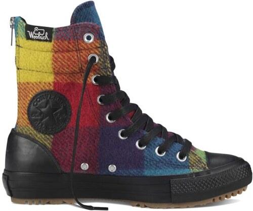 Converse Chuck Taylor All Star Hi-rise Boot Woolrich Hi černé - Glami.cz d168673e771
