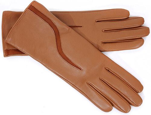 Dámské světle hnědé kožené rukavice LACRIMA (r5cS) - Glami.cz e9bdad5b512