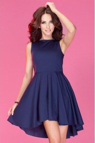 SAF Dámské asymetrické šaty Lacosta - Exclusive tmavě modré e2801b2ad7