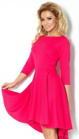 Luxusní dámské společenské a plesové šaty s 3 4 rukávem malinové NUMOCO 90-2 b85d151589