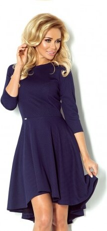 Luxusní dámské společenské a plesové šaty s 3 4 rukávem tmavě modré NUMOCO  90-1 0b404910dc