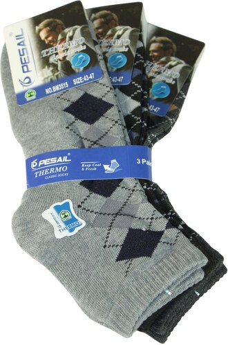74a4fb07b06 Pesail Nízké thermo ponožky - 3pack 43-47 MIX - Glami.cz