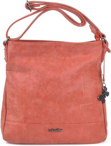 Le-Sands Elegantní oranžová crossbody kabelka 3164 - Glami.cz 32448e57321