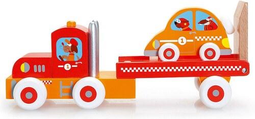 Scratch, Spielfahrzeug aus Holz, »LKW mit Rennauto«