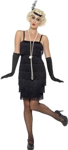 Kostým Flapper krátké šaty černé Velikost L 44-46 - Glami.cz 8440b663ad2
