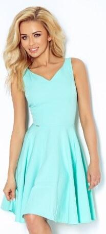 508a35a8505c Dámské elegantní společenské a plesové šaty mentolové NUMOCO 114-1 ...