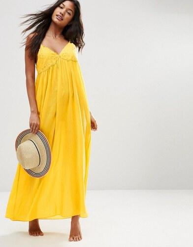 asos robe longue de plage babydoll avec bonnets en. Black Bedroom Furniture Sets. Home Design Ideas