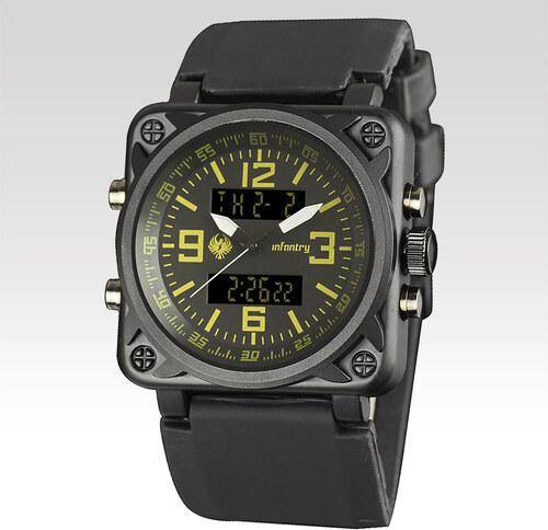 9b26fb35a9c Analogové a digitální hodinky Infantry Army žluté - Glami.cz