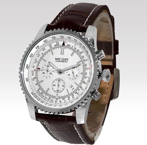 56efef66b95 Megir Pánské hodinky Imperial bílé - Glami.sk