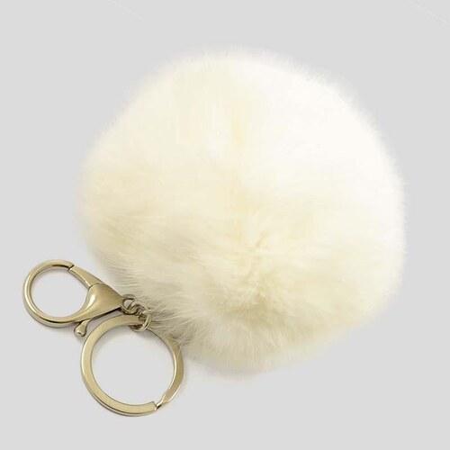 Kľúčenka - prívesok na kabelku prq125-01- biely - Glami.sk 7630a4d4272