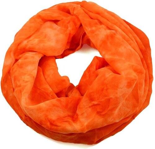 3d952fa3195 Tunelová šála 69tu002-11 - oranžová neonová batikovaná - Glami.cz