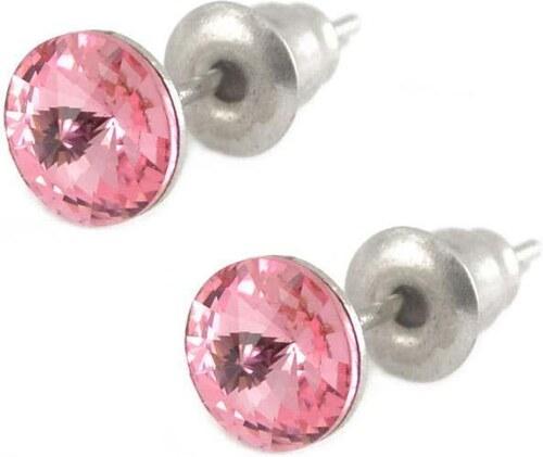Swarovski Crystals Rivoli 6 mm růžové náušnice - Glami.cz dbf4d055051