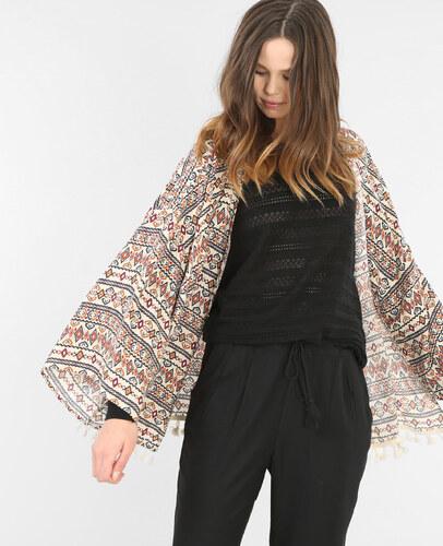 Pimkie Couleur S Veste Kimono Imprimée Taille Écru 50Femme KcF1JTl