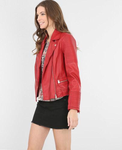 Veste style motard rouge, Femme, Taille 36 -PIMKIE- MODE FEMME ... ebd25e4e8af3
