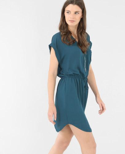 Robe couleur bleu canard
