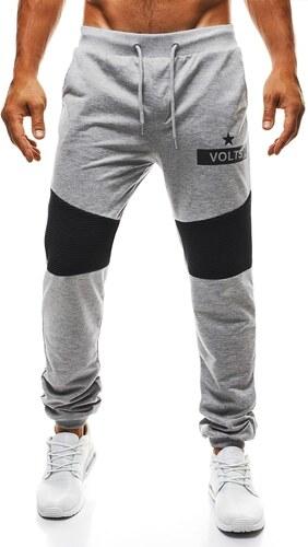 Teplákové šedé kalhoty pánské STREET STAR 1080 - Glami.cz d992f51664