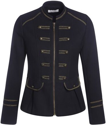 veste officier liser s dor s bleu coton femme taille 1 cache cache. Black Bedroom Furniture Sets. Home Design Ideas