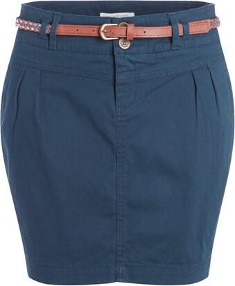 jupe chino unie ceinture bleu synthetique femme taille 34 cache cache. Black Bedroom Furniture Sets. Home Design Ideas