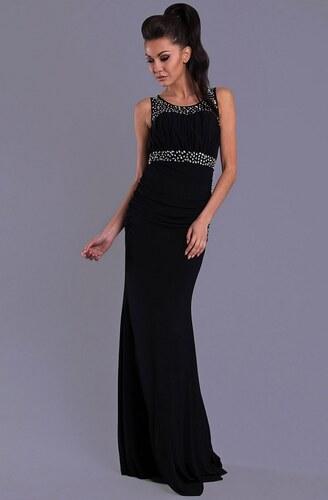Dámské plesové dlouhé společenské šaty PINK BOOM černé - Glami.cz 51860ed05f