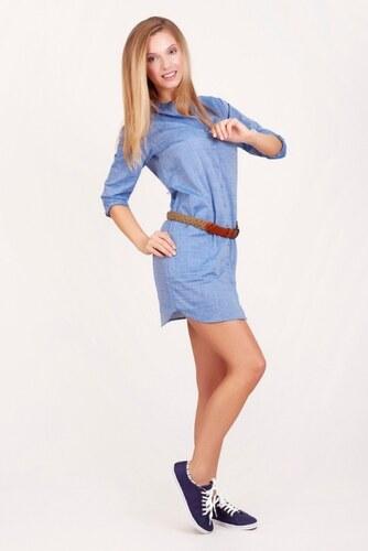 293aeaf3b986 SAM 73 Dámské košilové šaty DRWS16 02 l. blue - světle modrá - Glami.cz
