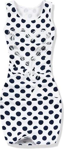Kleid weiß granat 5258D