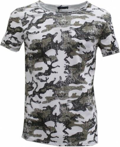 Roberto Garino Pánské tričko - kamufláž zelené 6c5237cb91