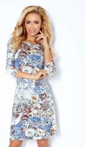 numoco Dámské společenské šaty BLOSSOM s květovaným motivem krátké květované 62085ee4eb5