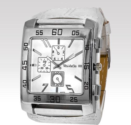 45bca0bb8b9 Wayfarer Pánské hodinky Womage bílé - Glami.cz