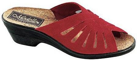 Große Größen: Pantolette, rot, Gr.36-42
