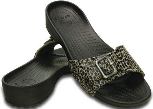 06afca72a8 Crocs Dámske šľapky Crocs Sarah Leopard San dal Black 203126 - Glami.sk