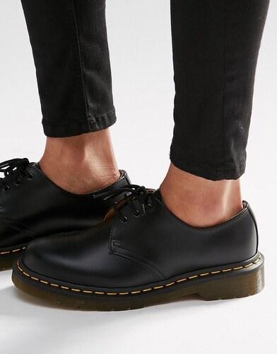 b9d382528c5 Dr Martens 1461 3-Eye Gibson Flat Shoes - Black smooth - Glami.cz