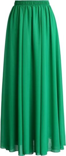 84264467610 CHICWISH Dámská sukně Maxi Candy Chiffon zelená Velikost  M - Glami.cz