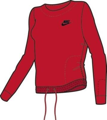 0e39127b285 Nike Dámská mikina bez kapuce červená XS - Glami.cz